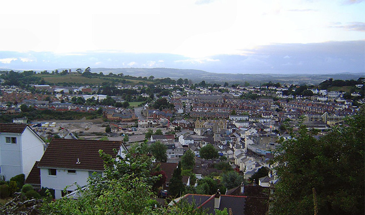 Newton Abbot from the sky